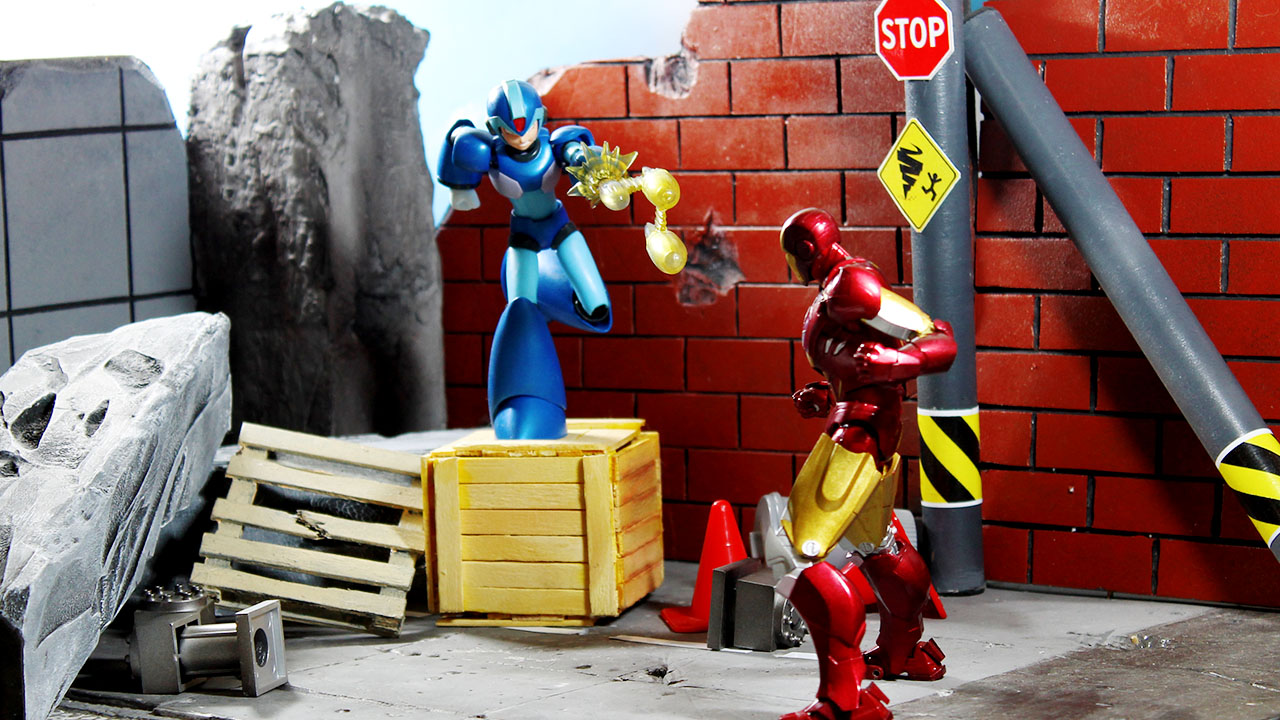homem de ferro vs megaman